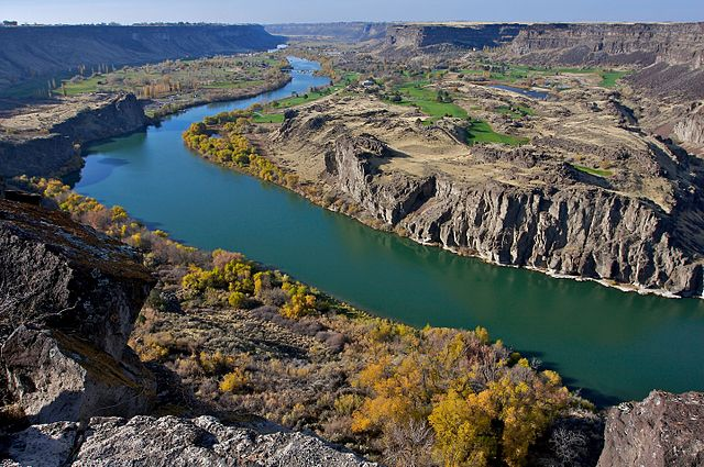 Snake River Canyon in Southern Idaho